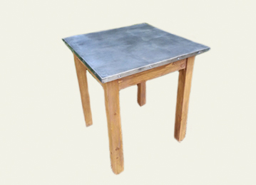 SQUARE ZINC TABLE TOPS